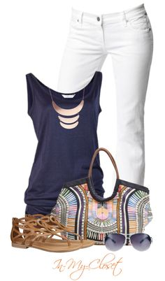Summer Outfit - Love this. I have the jeans and the top, just need the accessories.