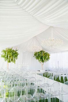 Outdoor Wedding Ceremony Decor Idea ~ Larissa Cleveland Photography