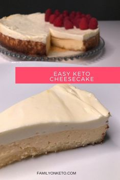 Easy keto cheesecake! The best keto, low carb dessert. Creamy and delicious!