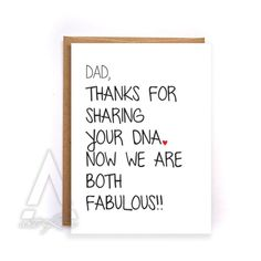 Dad Birthday Card Funny Christmas From Daughter Happy Kids Greeting Cards GC2