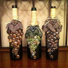 60+ Amazing DIY Wine Bottle Crafts #decoratedwinebottles