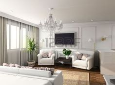 interior decorating: De binnenkant van het moderne ontwerp van slaap kamer. 3D plaatsing Stockfoto