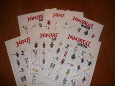 Our Ninjago Party 3 - Ninjago Bingo  (Tks Lisa D)