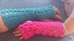 Lacey Butterfly Arm warmers - Free Original Patterns - Crochetville