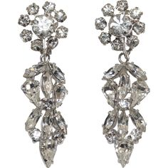 Sherman Swarovski Drop Chandelier Earrings Unsigned Exclusively at Lee Caplan Vintage Collection  on RubyLane