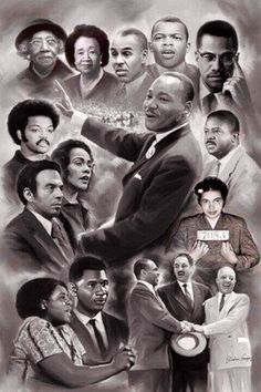 Memorable Iconic Faces from the Civil Rights Movement.....