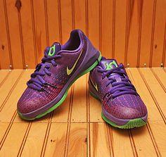 be2c7d9a69a 2015 Nike KD VIII 8 Size 1Y - Court Purple Crimson Green Strike - 768868  535. eBay