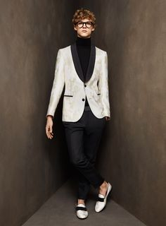 Turtle necks, tuxedo jackets, loafers. I think that sums up where the elegant, stylish, and classic gentleman is heading towards. It's all in the rich fabrics, choice of color, and fit.
