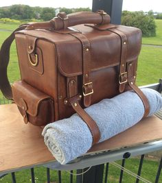 5ccc4bb9d6be Brown Leather Handmade Multifunctional Tourist Motorcycle Travel Bag  Backpack Rucksack Messenger Duffel bag