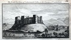 A fine highly detailed little copper engraved antique print entitled THE NORTH WEST VIEW OF COCKERMOUTH CASTLE IN THE COUNTY OF CUMBERLAND A lovely