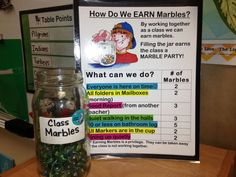 Marble Jar: management tool that helps teach the class to work together