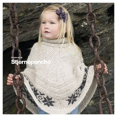 Ravelry: Stjerneponcho pattern by Marte Helgetun Knitting Designs, Knitting Projects, Knitting Patterns, Knitting For Kids, Baby Knitting, Knit Crochet, Crochet Hats, Knitted Poncho, Yarn Crafts