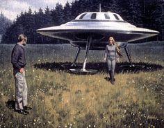 Billy Meier, UFO/Alien Contact from The Pleiades! Arte Sci Fi, Sci Fi Art, Aliens And Ufos, Ancient Aliens, Ancient Greek, Nordic Aliens, Alpha Centauri, Art Science Fiction, Sci Fi Kunst