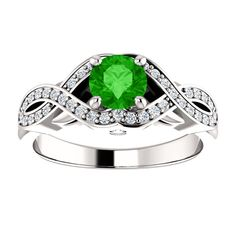 10kt White Gold 5.2mm Center Round Garnet and 42 Accent Genuine Diamonds Engagement Ring...(ST122526:147:P).! Price: $899.99 #diamonds #ring #gold #garnetring #fashionring #jewelry