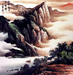 Sailing Out of the Gorge - Yangtze River Landscape