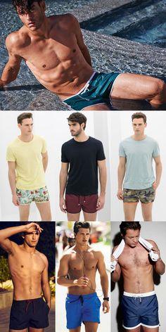 Men's 2014 Swimwear Recommendations: The Cropped Nylon Swim Short Lookbook Inspiration