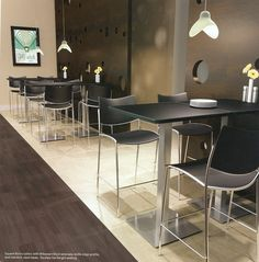 Cafe & Bistro Tables can turn an ordinary lunchroom in to an extraordinary breakroom for employees