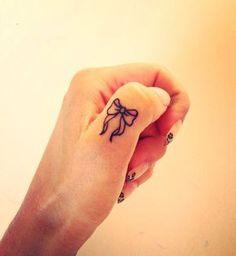 Bow Finger Tattoo. 55+ Cute Finger Tattoos   Cuded