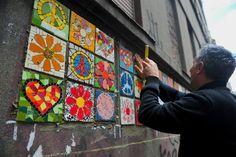 """Projeto """"Mosaico Intervenção Urbana"""" traz cores para Porto Alegre"""
