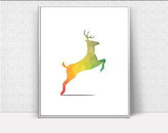 Woodland Deer Art, Nursery Deer, Deer Printable, Woodland Print, Modern Minimalist Art, office gift, Wall Decor, Most Popular #giftidea #birthdaygiftideas #housewarminggift