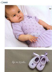 Bebekler İçin Bayramlık Örgü Bebek Bluzu , Örgü Bebek Eteği , Örgü Patik Modeli Yapılışı (Anlatımlı)