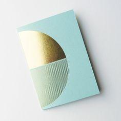 Brass Notebook Mint | Lovely Pigeon