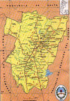"""El jardin de la Republica: """"""""TUCUMAN""""  mapa. Argentina"""