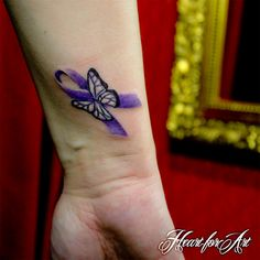 Fibromyalgia Butterfly Meaning Fibromyalgia ribbon tattoo