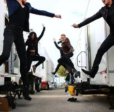 """""""The family that jumps together stays together"""" -Kat McNamara hahah"""