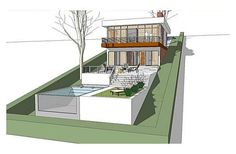 2256 square feet, 2 bedrooms, 2½ batrooms, 2 parking space, on 2 levels, House Plan