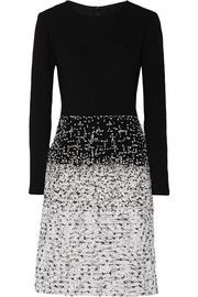 Oscar de la RentaBouclé-paneled knitted dress