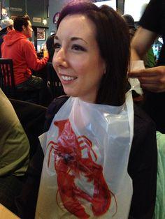 Jaclyn rocking the lobster bib