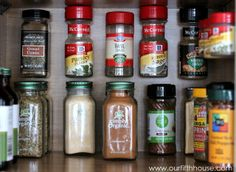 use Command strips to hold spices