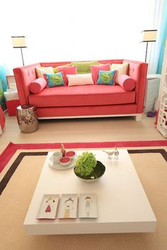 Edison Avenue: Bright And Cheerful: Decorating With Pink and Turquoise