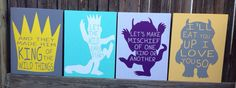 SALE Set of Three Where the Wild Things Are Wood by LilMissScrappy, $78.95