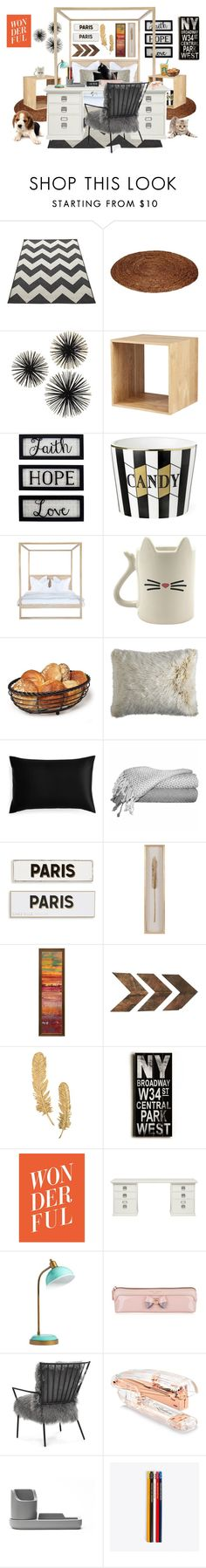 """Dream Room"" by tumblr-outfits12 on Polyvore featuring interior, interiors, interior design, home, home decor, interior decorating, New View, Pier 1 Imports, Slip and Rosanna"