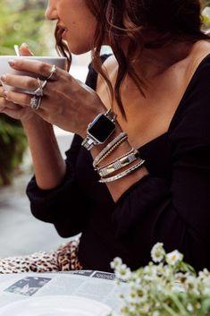 , Shalice Noel wearing LAGOS Smart Caviar fine jewelry bracelet for the Apple Watc. , Shalice Noel wearing LAGOS Smart Caviar fine jewelry bracelet for the Apple Watch. Apple Watch Bracelets, Bracelet Watch, Fashion Jewelry Stores, Fashion Accessories, Caviar, Tom Girl, Apple Watch Bands Fashion, Feminine Apple Watch Bands, The Bling Ring