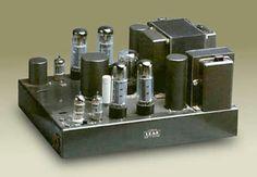 A Leak Stereo 60 valve amplifier in dark grey.