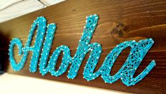 Aloha Modern String Art Wooden Name Tablet by NineRed on Etsy Easy Diy Crafts, Fall Crafts, Arts And Crafts, Island Theme, Star Diy, Wooden Names, Cool Art Projects, Diy Wall Art, Wall Signs