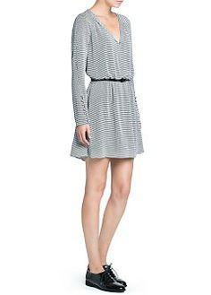 MANGO - CLOTHING - Dresses - Retro print flowy dress