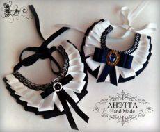 A girly dog collar? Ribbon Jewelry, Ribbon Necklace, Fabric Jewelry, Jewelry Art, Women Bow Tie, Diy Hair Bows, Ribbon Work, African Jewelry, Ribbon Crafts