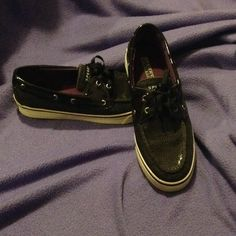 Sperry Top-Sider Black Sparkly Worn once or twice Black Sperry size. 8 Sperry Top-Sider Shoes Sneakers