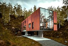 Rugged Corten Steel Clads Minimalist 'House for a Photographer' in South Wales Architect Design House, House Design, Style At Home, Roof Styles, House Styles, Building A Container Home, Steel Roofing, Roofing Shingles, Roof Architecture
