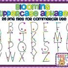 Blooming Uppercase Alphabet Graphics: This alphabet set contains 26 hand drawn uppercase letters. These graphics may be used commercially.