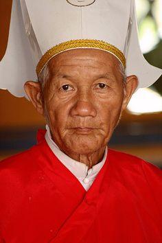 Cao Dai Priest - Tay Ninh, Vietnam