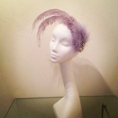 """The """"Noella"""" fascinator in lilac #millinery #fashion #hats #emmabrown www.emmabrowncouture.com"""