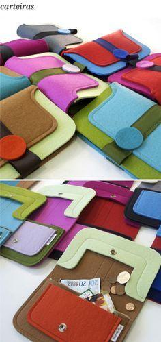 felt purses...by mariela dias