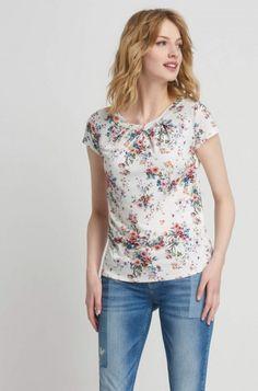 Elegantní květované tričko
