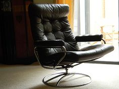 Exceptionnel Vintage Ekornes Leather Recliner Lounge Chair