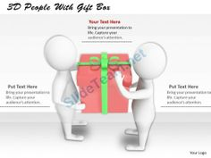1113 3D People with Gift Box Ppt Graphics Icons Powerpoint #Powerpoint #Templates #Infographics